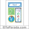 Nombre Yoel para imprimir carteles
