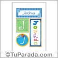 Nombre Joshua para imprimir carteles