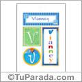 Nombre Vianney para imprimir carteles