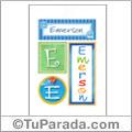 Nombre Emerson para imprimir carteles