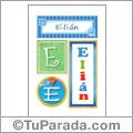 Nombre Elián para imprimir carteles
