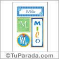 Nombre Milo para imprimir carteles