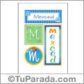 Merced, nombre, imagen para imprimir
