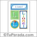 Nombre Lionel para imprimir carteles