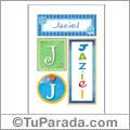 Jaziel, nombre, imagen para imprimir