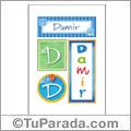 Damir, nombre, imagen para imprimir