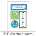 Patricio, nombre, imagen para imprimir