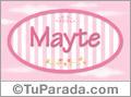 Mayte - Nombre decorativo