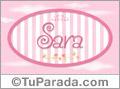 Sara - Nombre decorativo