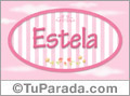 Estela - Nombre decorativo