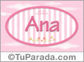 Ana - Nombre decorativo