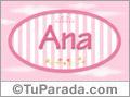 Ana - Nombre decorativo