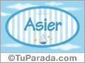 Asier - Nombre decorativo