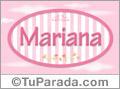 Mariana - Nombre decorativo