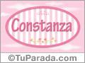 Constanza - Nombre decorativo