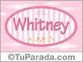 Whitney - Nombre decorativo