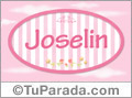 Joselin - Nombre decorativo