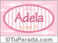 Adela - Nombre decorativo