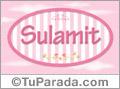 Sulamit - Nombre decorativo