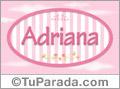 Adriana, nombre para niñas