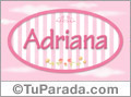 Adriana - Nombre decorativo