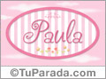 Paula - Nombre decorativo