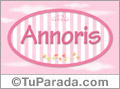 Annoris - Nombre decorativo