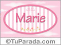 Marie - Nombre decorativo