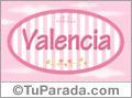 Valencia - Nombre decorativo