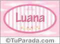 Luana - Nombre decorativo