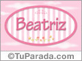 Beatriz - Nombre decorativo