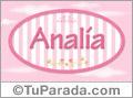 Analia - Nombre decorativo