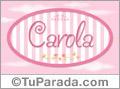 Carola - Nombre decorativo