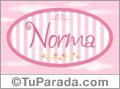 Norma - Nombre decorativo
