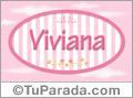 Viviana - Nombre decorativo