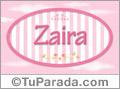 Zaira - Nombre decorativo