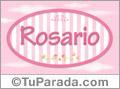 Rosario - Nombre decorativo