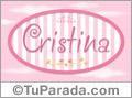 Cristina - Nombre decorativo