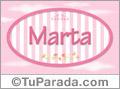 Marta - Nombre decorativo