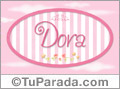 Dora - Nombre decorativo