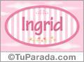 Ingrid - Nombre decorativo