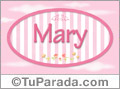 Mary - Nombre decorativo