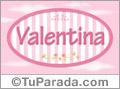 Valentina - Nombre decorativo