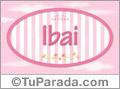 Ibai -  Nombre decorativo