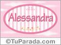 Alessandra - Nombre decorativo
