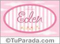 Eden - Nombre decorativo