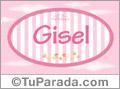Gisel - Nombre decorativo