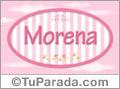 Morena - Nombre decorativo