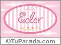 Eder - Nombre decorativo
