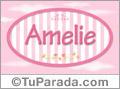 Amelie, nombre para niñas